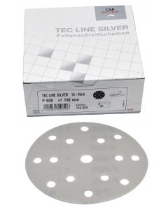 Tec Line Silver Folienschleifmittel 150 mm - 15 Loch